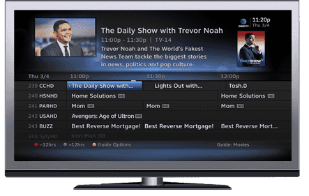 DirecTV programming on-demand guide